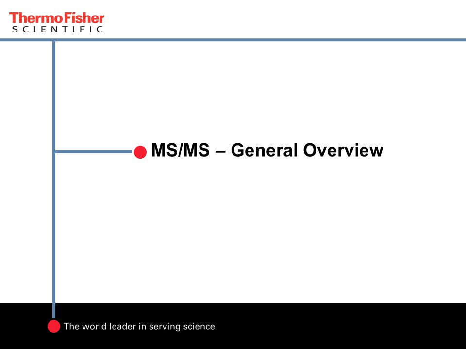 MS/MS – General Overview