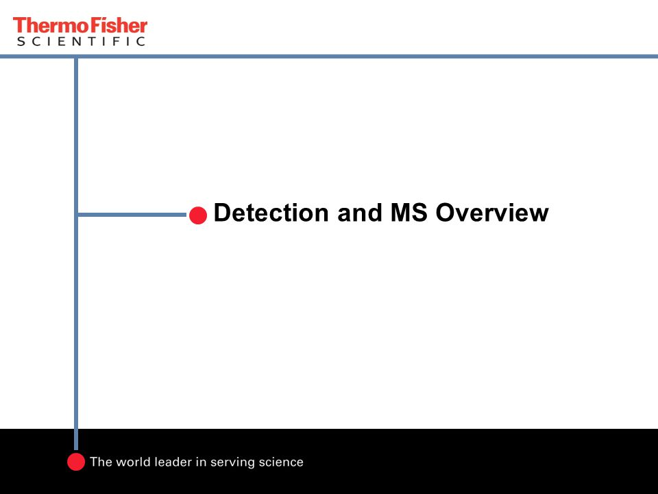 Detection and MS Overview