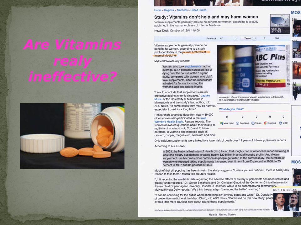 E. Yeşilada 15 Are Vitamins realy ineffective?