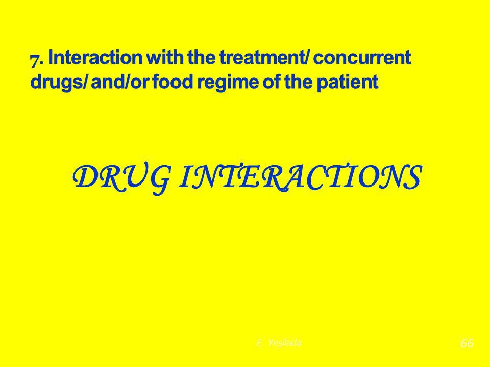 DRUG INTERACTIONS 66 E. Yeşilada