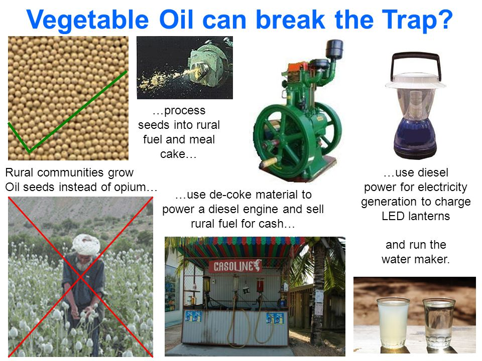 Vegetable Oil is a clean burning, renewable substitute for petroleum based Diesel Fuel…