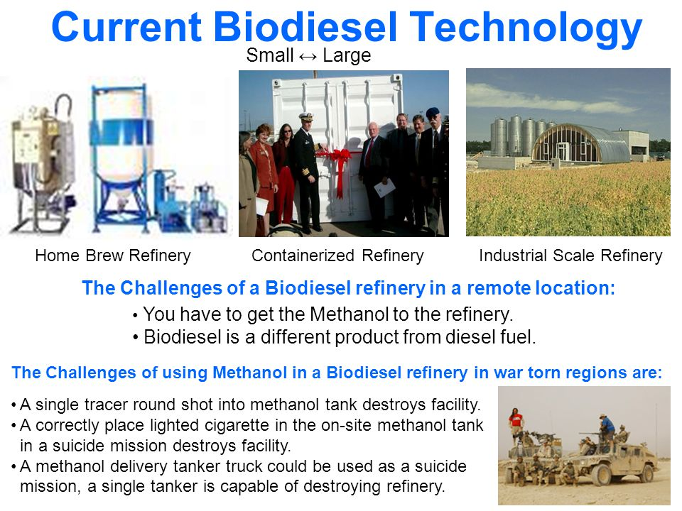 The Rural Fuel Reactor The reactor does not need Methanol and is capable of refining vegetable oil into diesel fuel … …this is not Biodiesel but Renewable Diesel.