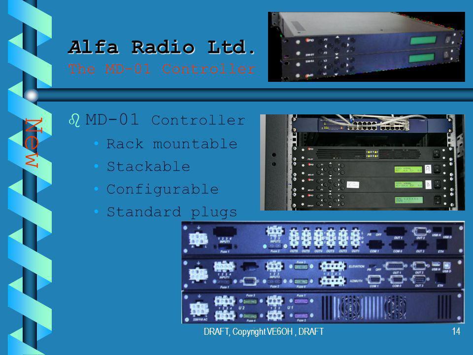 DRAFT, Copyright VE6OH, DRAFT13 Alfa Radio Ltd. Alfa Radio Ltd.