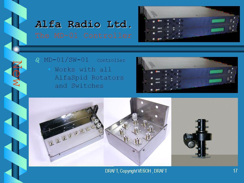 DRAFT, Copyright VE6OH, DRAFT16 Alfa Radio Ltd. Alfa Radio Ltd.