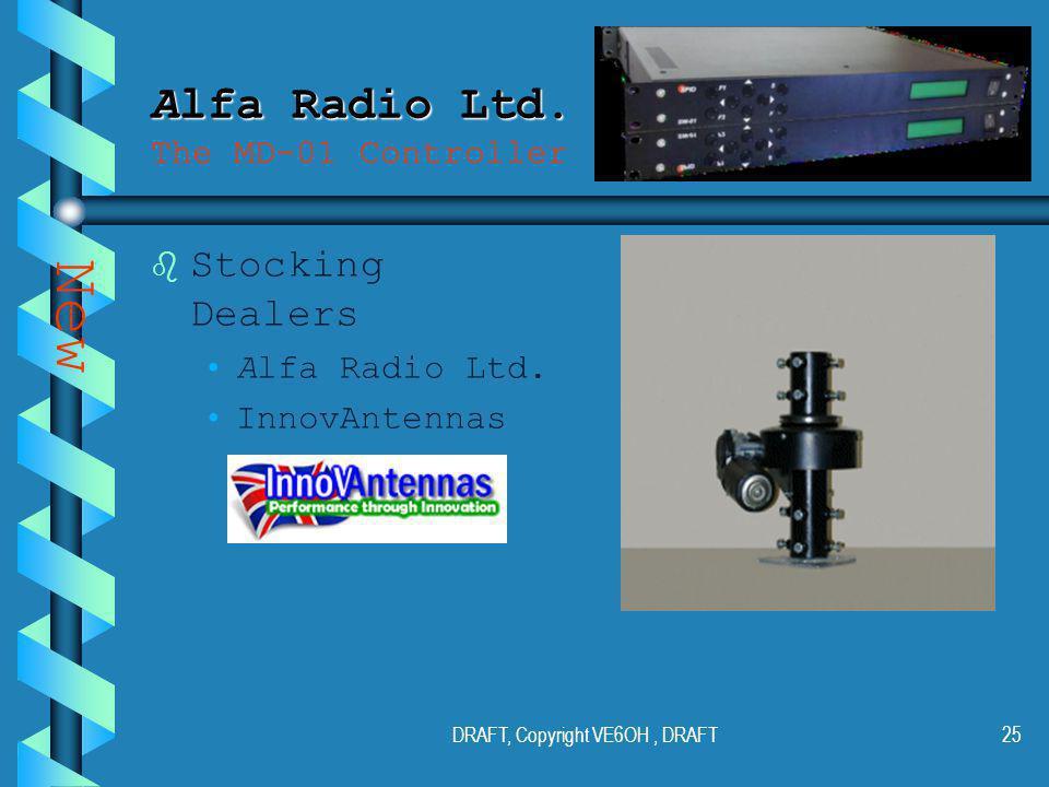 DRAFT, Copyright VE6OH, DRAFT24 Alfa Radio Ltd. Alfa Radio Ltd.