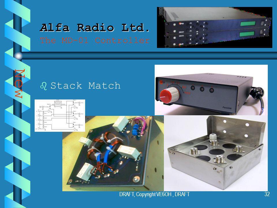 DRAFT, Copyright VE6OH, DRAFT31 Alfa Radio Ltd. Alfa Radio Ltd.