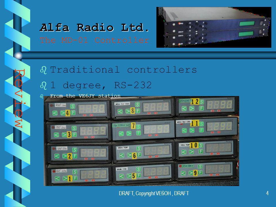 DRAFT, Copyright VE6OH, DRAFT3 Alfa Radio Ltd. Alfa Radio Ltd.