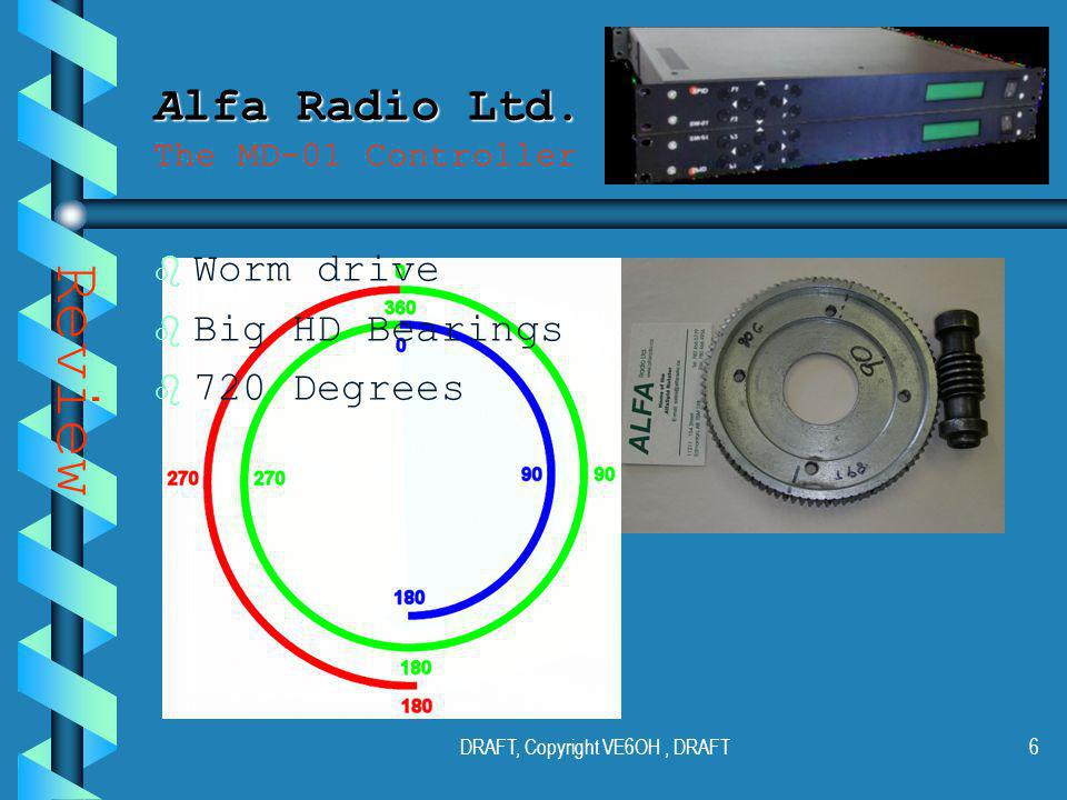 DRAFT, Copyright VE6OH, DRAFT5 Alfa Radio Ltd. Alfa Radio Ltd.
