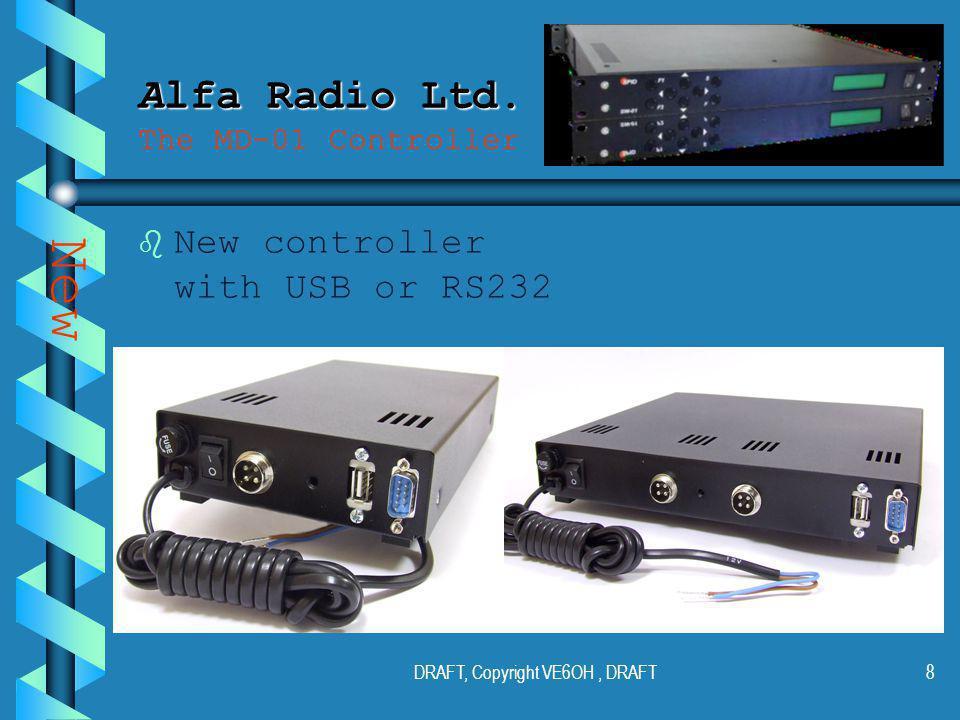DRAFT, Copyright VE6OH, DRAFT7 Alfa Radio Ltd. Alfa Radio Ltd.