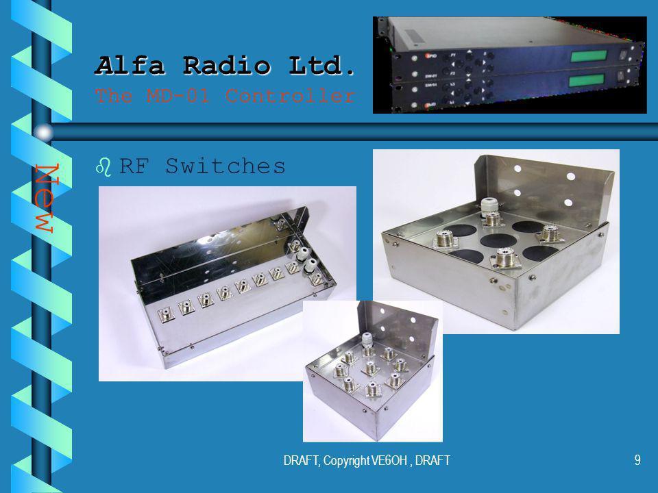 DRAFT, Copyright VE6OH, DRAFT8 Alfa Radio Ltd. Alfa Radio Ltd.