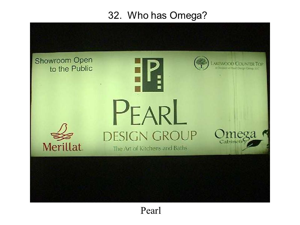 32. Who has Omega Pearl