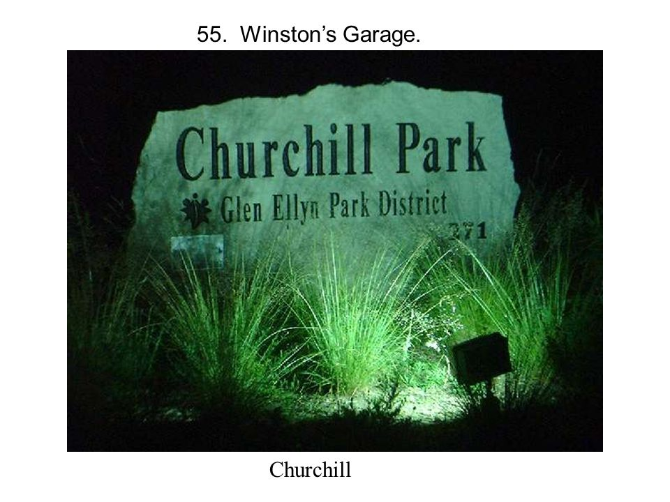 55. Winston's Garage. Churchill