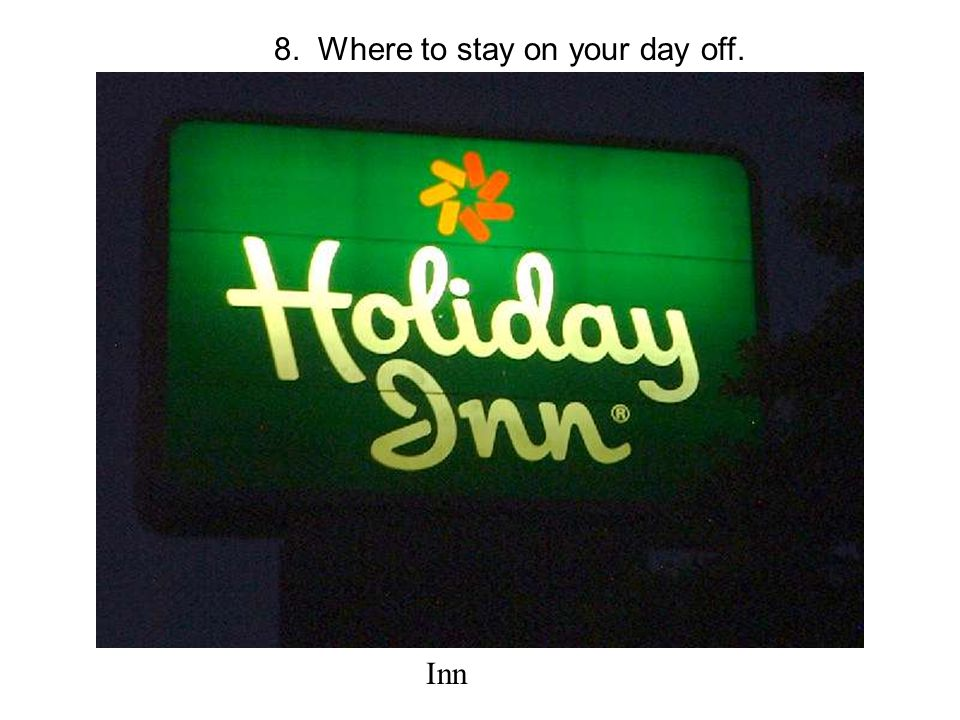 8. Where to stay on your day off. Inn