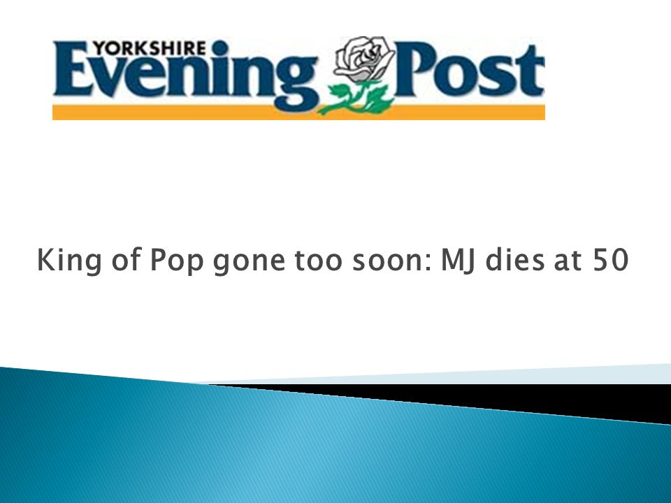 Michael Jackson: a pop icon who thrilled the world dies aged 50