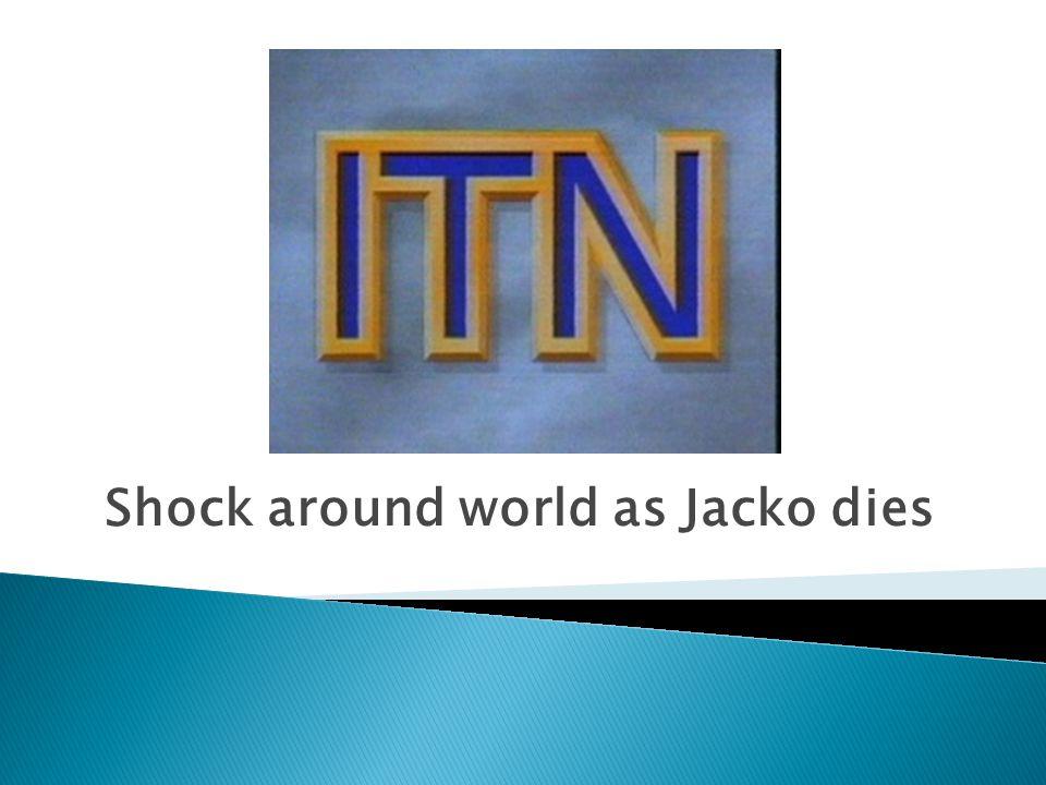 Shock around world as Jacko dies