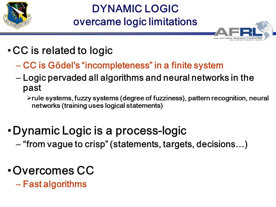 OUTLINE Related research Combinatorial complexity and logic Dynamic logic Joint likelihood, math.