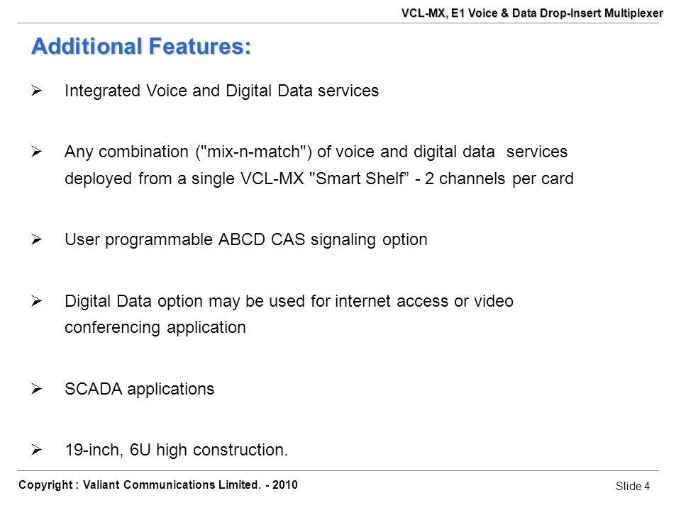 Slide 15 Copyright : Valiant Communications Limited.