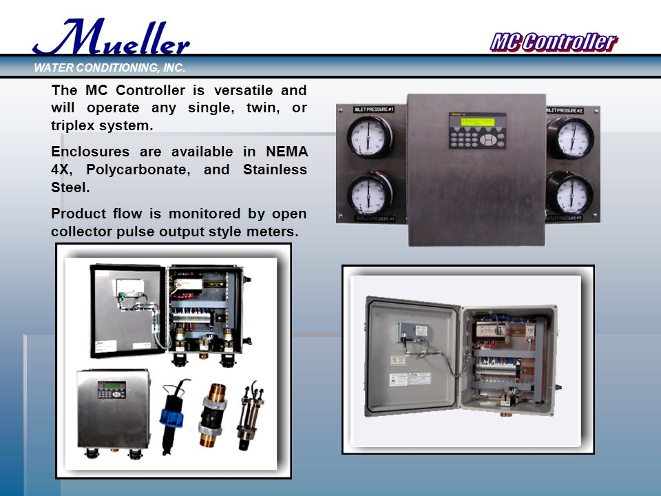 The MC Controller is versatile and will operate any single, twin, or triplex system.