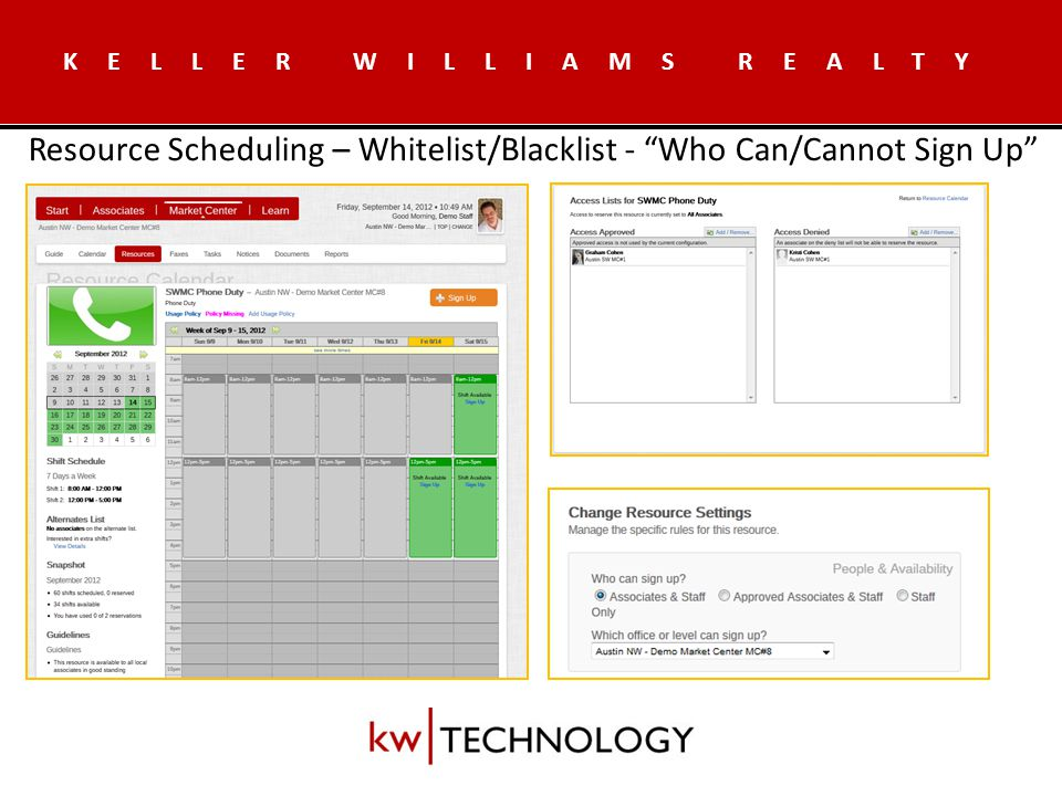 KELLER WILLIAMS REALTY Dramatic overhaul of documents section to make work like other popular online document solutions – New.