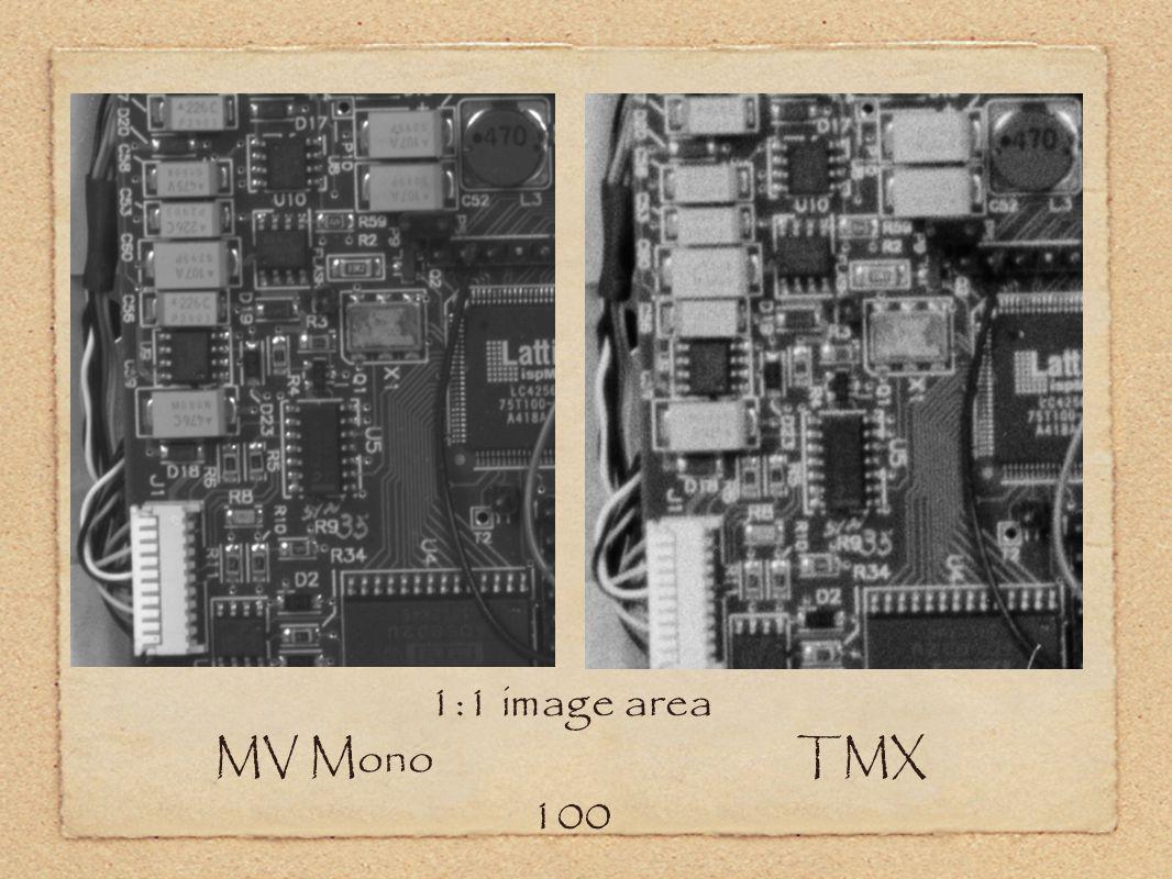 1:1 image area MV Mono TMX 100