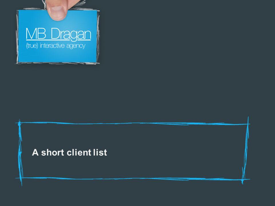 A short client list