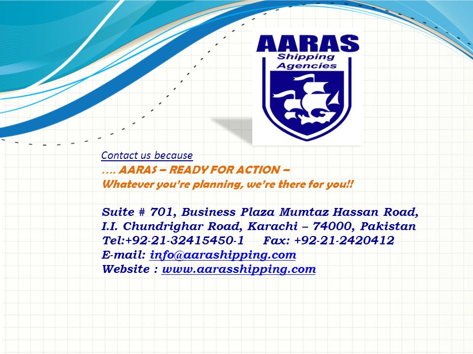 Contact us because …. AARAS – READY FOR ACTION – Whatever you're planning, we're there for you!.