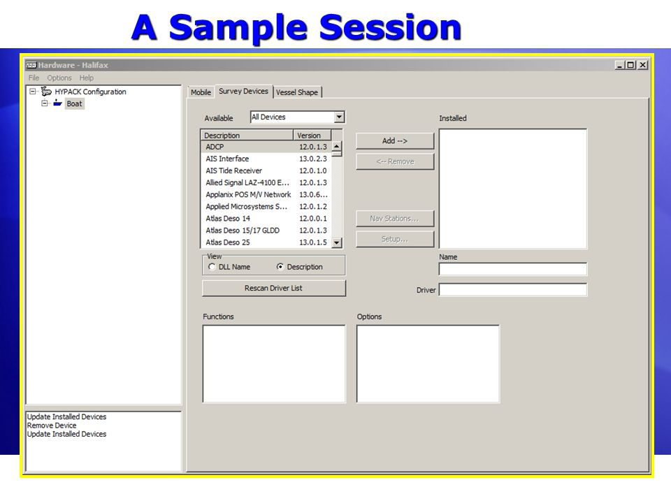 A Sample Session