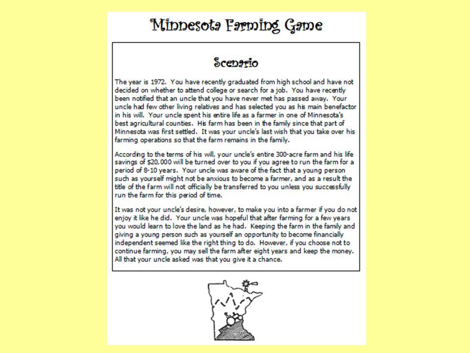 1972-73 MN Farming Game