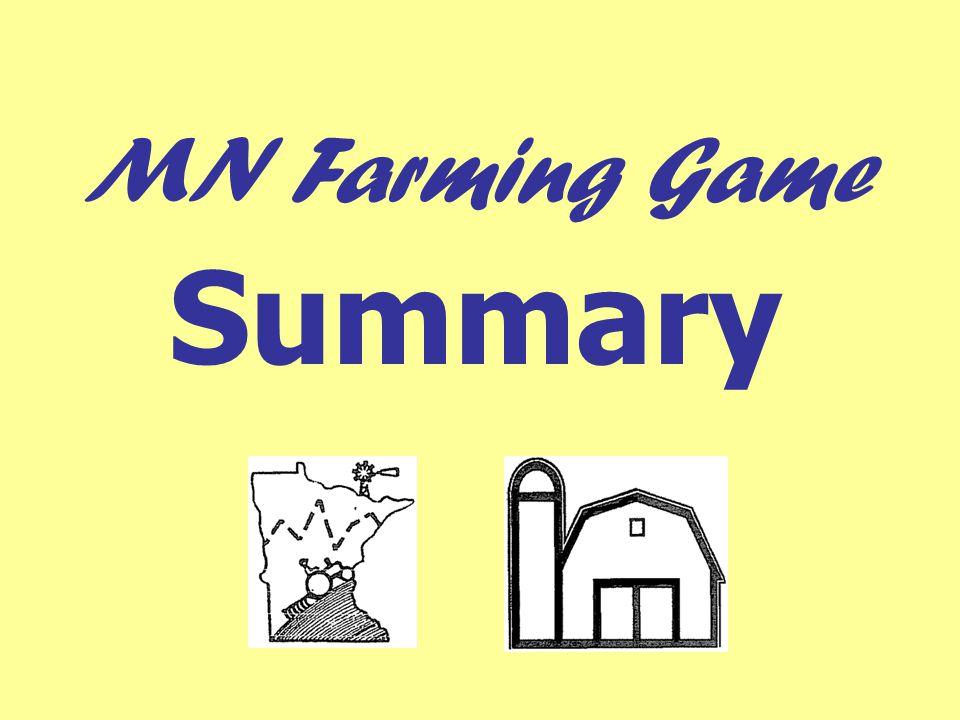 MN Farming Game Summary