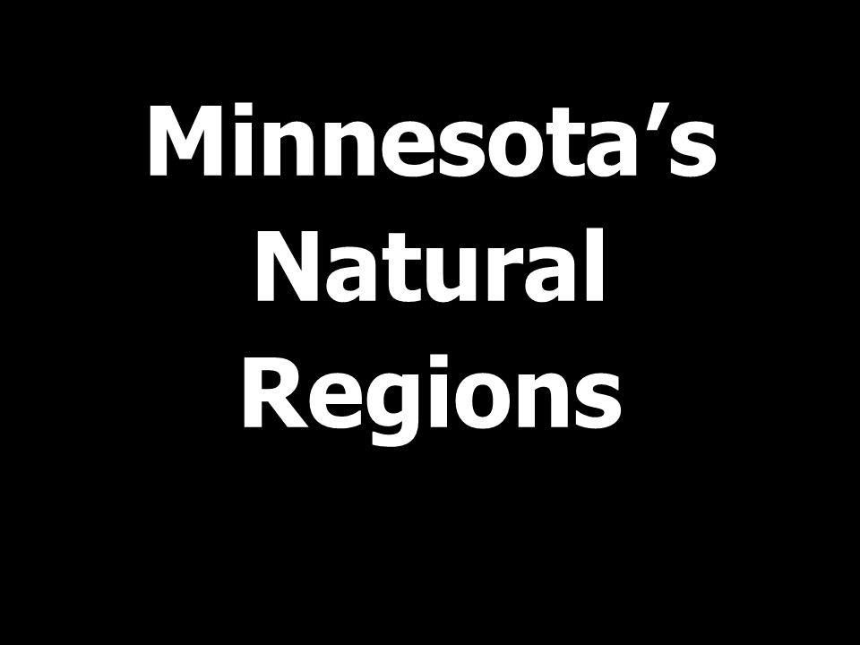 Minnesota's Natural Regions
