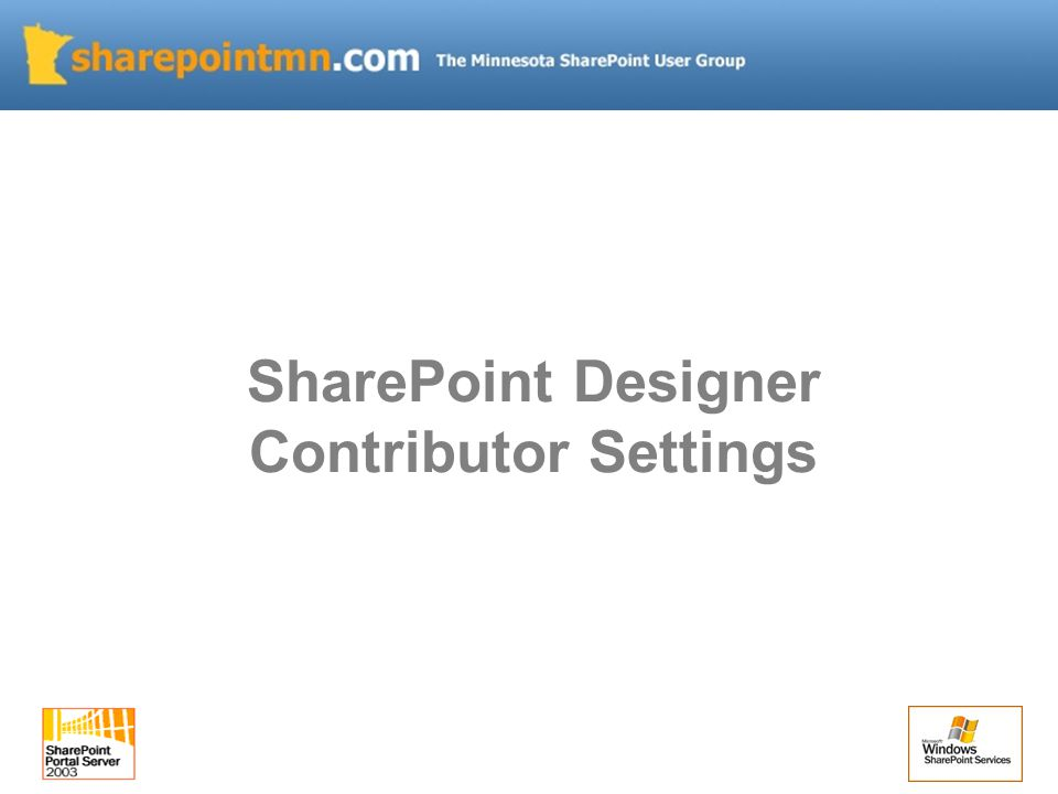 SharePoint Designer Contributor Settings