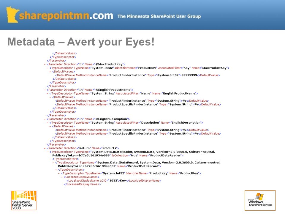 Metadata – Avert your Eyes!