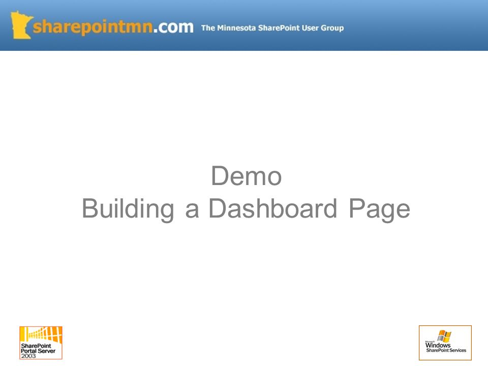 Demo Building a Dashboard Page