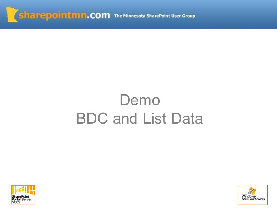 Demo BDC and List Data