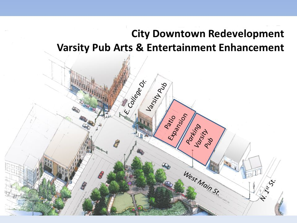 Varsity Pub E. College Dr. Patio Expansion West Main St.