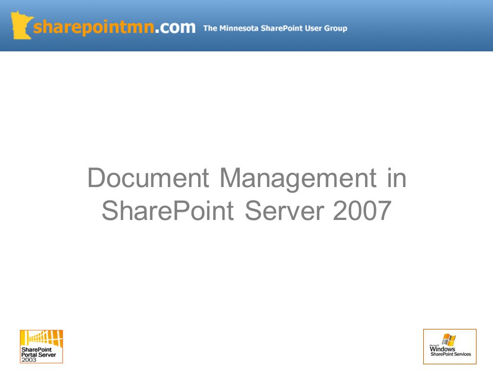 Document Management in SharePoint Server 2007
