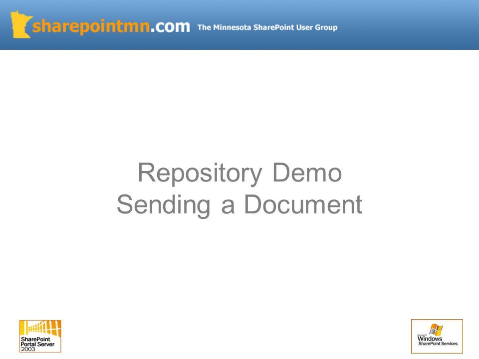Repository Demo Sending a Document