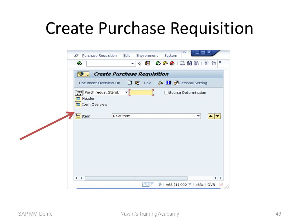Create Purchase Requisition SAP MM DemoNawin s Training Acadamy 46