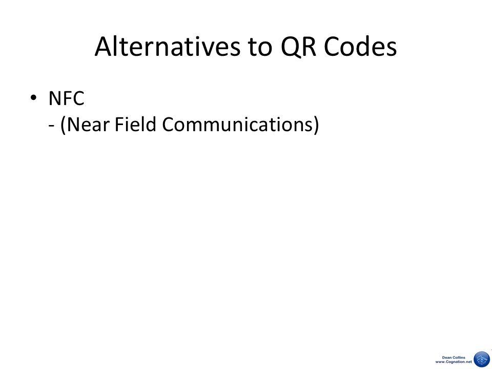 Alternatives to QR Codes NFC - (Near Field Communications)