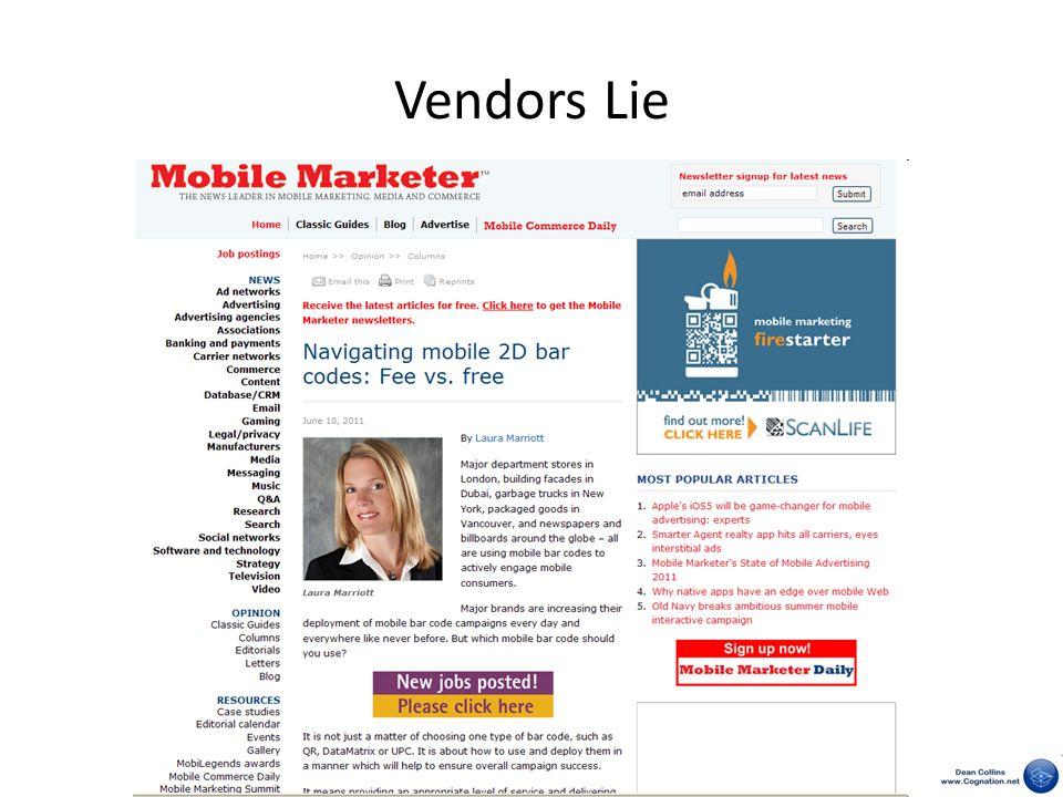 Vendors Lie