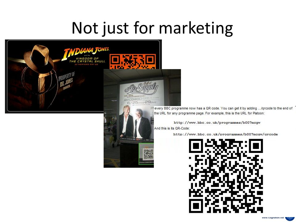 Not just for marketing
