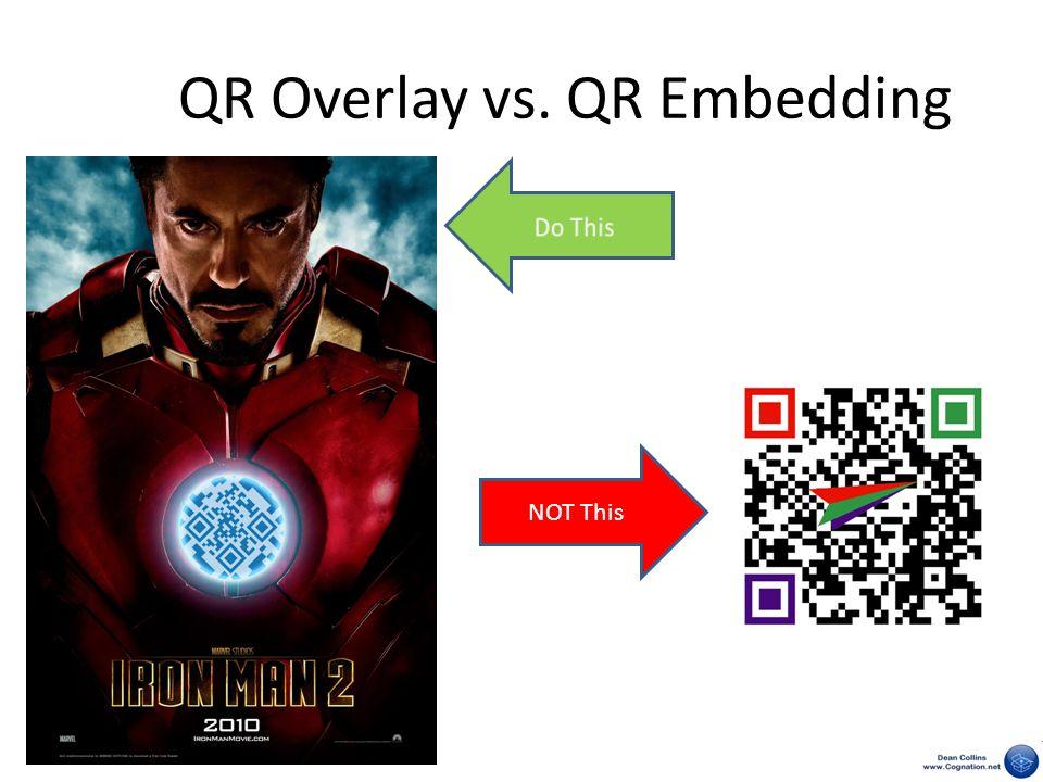 QR Overlay vs. QR Embedding NOT This