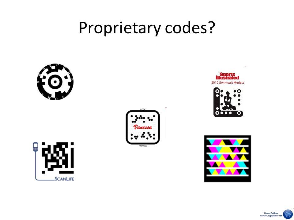 Proprietary codes?
