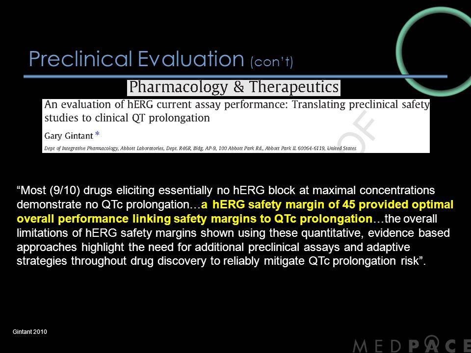 Concentration QTc (con't) Bloomfield et al 2009