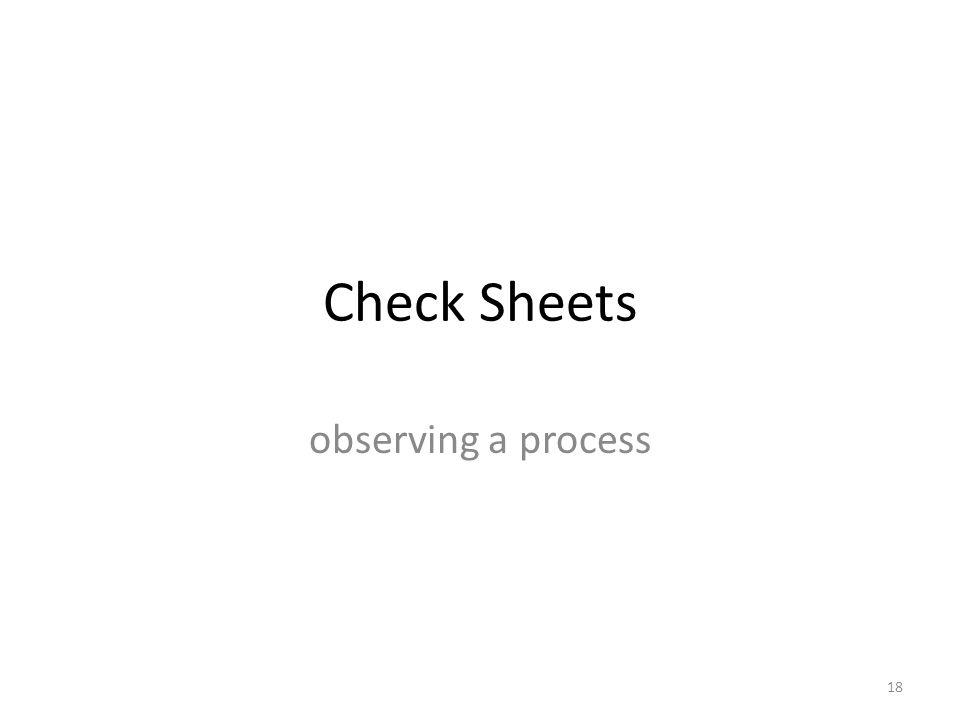 Check Sheets observing a process 18