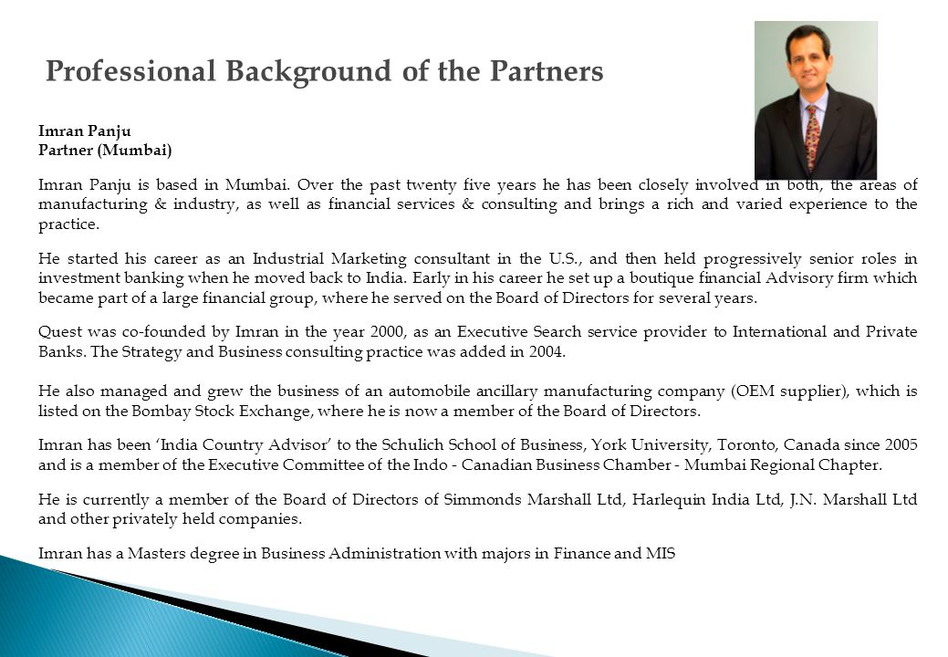 Quest Partners have been appointed as Country Advisors - India for the Schulich School of Business, York University.