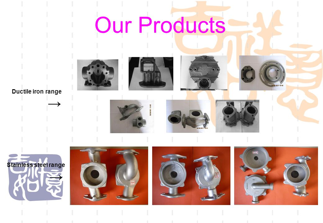 13 Our Products  Gray Iron product  →  Malleable Iron product  →
