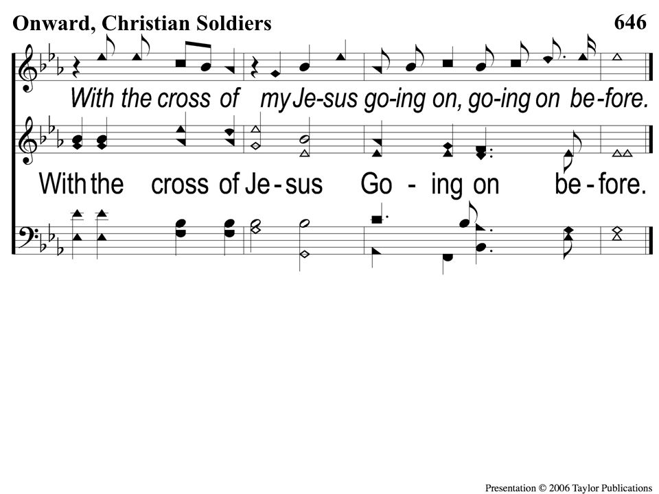 Opt Descant C-2 Onward Christian Soldiers 646 Onward, Christian Soldiers