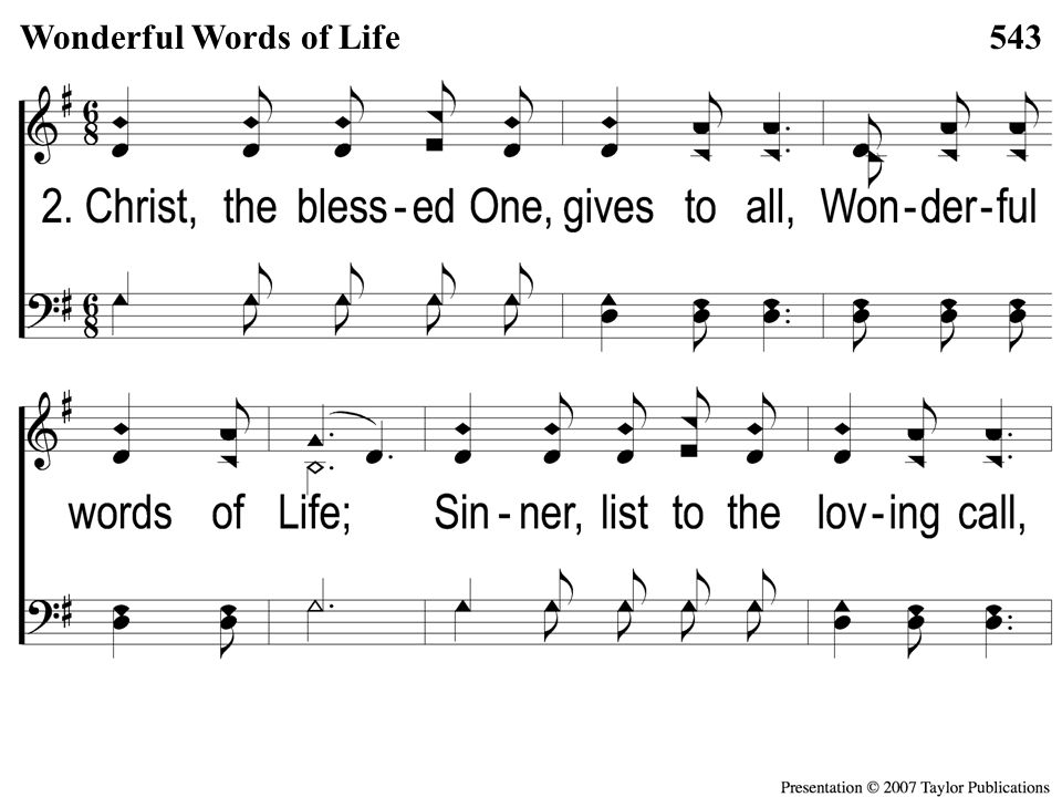 2-1 Wonderful Words of Life Wonderful Words of Life543