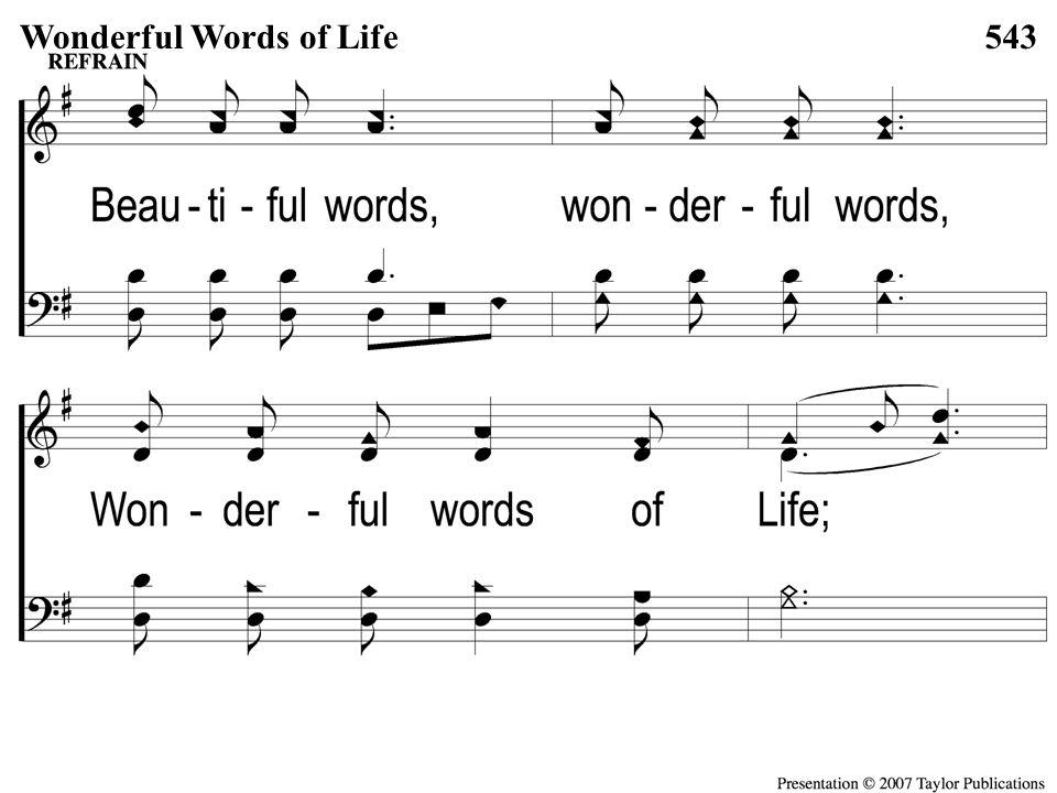 C-2 Wonderful Words of Life Wonderful Words of Life543